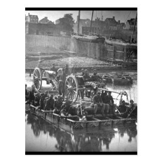 Artilleros e imagen de veinte Infantry_War Postales