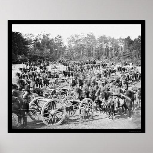Artillery Battery M Fair Oaks, VA 1862 Poster