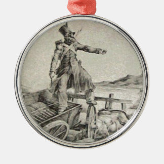 Artillery caisson by Theodore Gericault Round Metal Christmas Ornament