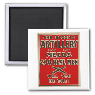 Artillery Call to Arms World War One fridge magnet