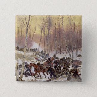 Artillery Combat in a Wood Pinback Button
