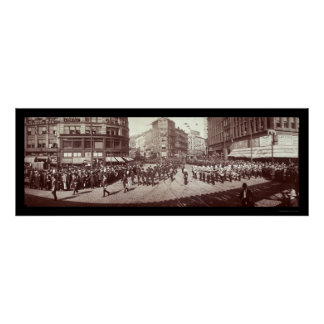 Artillery In Boston Photo 1903 Poster