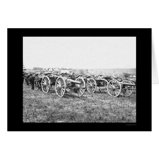 Artillery in Richmond, VA 1862 Card