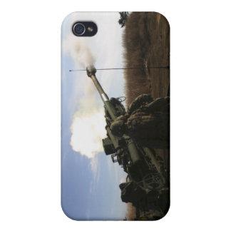 Artillerymen fire a 155mm round iPhone 4 case
