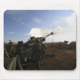 Artillerymen fire a 155mm round mouse pad