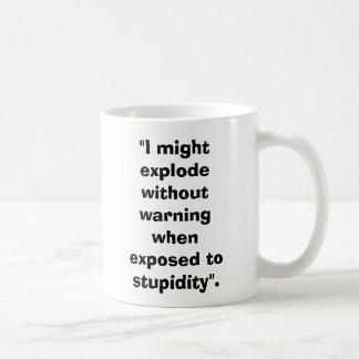 "ArtilleryShell, ""I might explode without warnin... Coffee Mug"