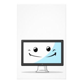 Artilugio con la expresión divertida - ordenador
