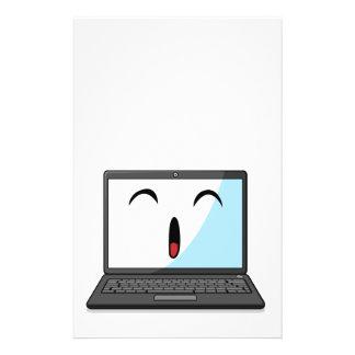 Artilugio con la expresión divertida - ordenador p