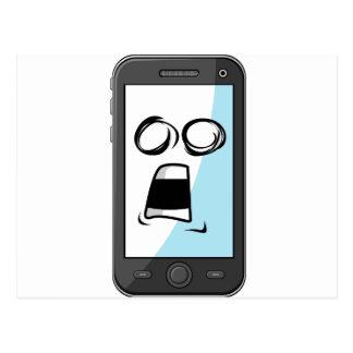 Artilugio con la expresión divertida - Smartphone Postales