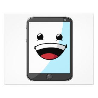 Artilugio con la expresión divertida - tableta