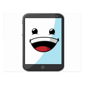 Artilugio con la expresión divertida - tableta postales