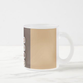 Artisan coffee-a simple pleasure frosted glass coffee mug