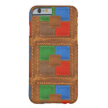 Artisan Elegant Leather Look Squares Patchwork Barely There iPhone 6 Case