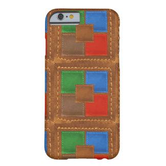 Artisan Elegant Leather Look Squares Patchwork iPhone 6 Case