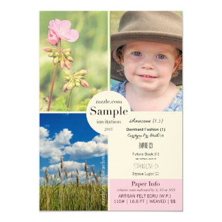 Artisan Felt Ecru 2015 Paper Sample 5x7 Paper Invitation Card