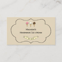 Artisan Ice Cream Maker Customizable Business Card