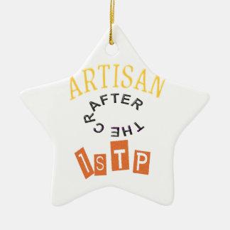 Artisan ISTP Personality Ceramic Ornament