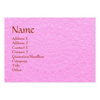 Artisan PINK Engraved Design Large Business Card