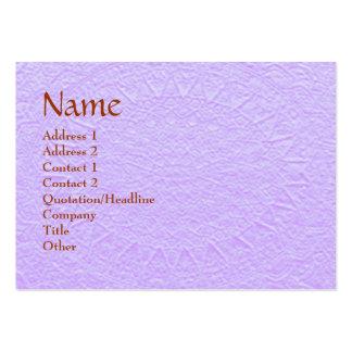 Artisan PURPLE Engraved Design Large Business Card