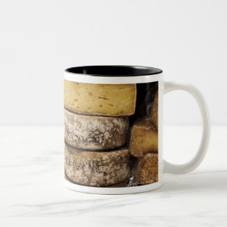 artisan regional french cheeses Two-Tone coffee mug