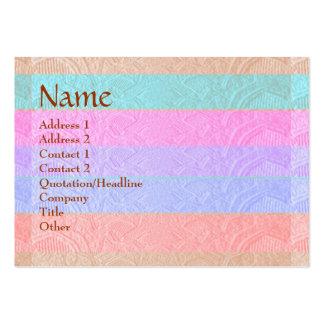Artisan Stripes Engraved Design Business Card