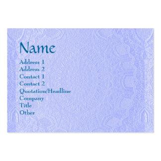 Artisan Stripes Engraved Design Large Business Card