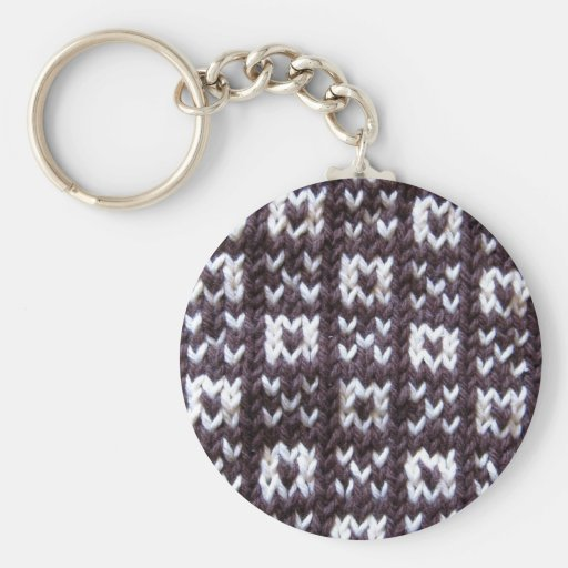 Artisanware Knit Kisses and Hugs Basic Round Button Keychain