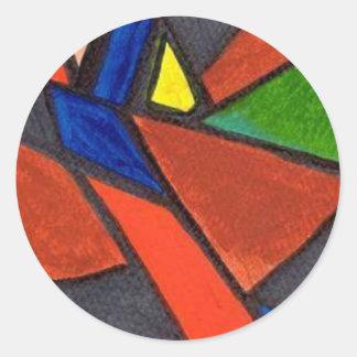 Artisic Image Classic Round Sticker