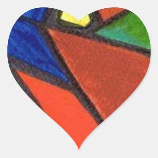Artisic Image Heart Sticker