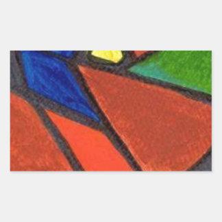 Artisic Image Rectangular Sticker