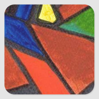 Artisic Image Square Sticker