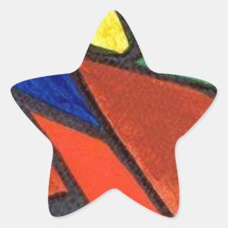 Artisic Image Star Sticker