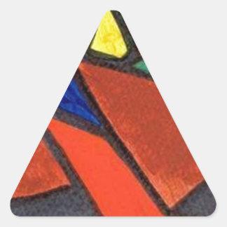 Artisic Image Triangle Sticker