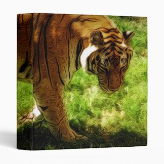 Artisitic Tiger Painting 3 Ring Binder