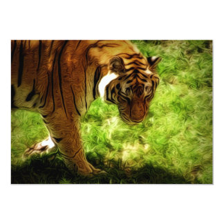 Artisitic Tiger Painting Card