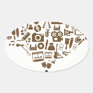 artist3 oval sticker