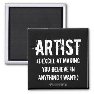 Artist 2 Inch Square Magnet