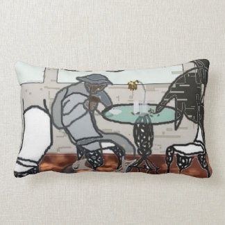 Artist Abstract Cafe Pillow
