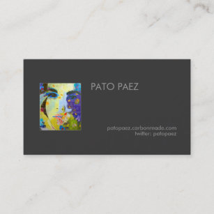 Artist Add Your Photo Business Card