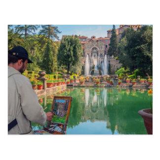 Artist and motiv, Villa´d Este Postcard