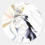 Artist as Goddess Round Stickers