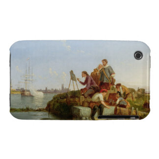 Artist at his Easel and Shipping beyond, 1894 (oil iPhone 3 Case-Mate Case