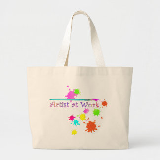 ARTIST at WORK by SHARON SHARPE Large Tote Bag