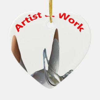 Artist at Work Ceramic Ornament