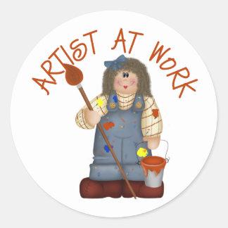 Artist At Work Kids Gift Classic Round Sticker