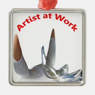 Artist at Work Metal Ornament