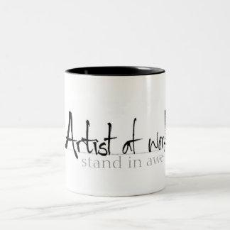 Artist at work coffee mugs