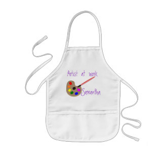 Artist at Work - Personalized kids apron
