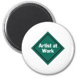 """Artist At Work"" Product Fridge Magnets"