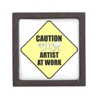 artist at work sign premium keepsake box